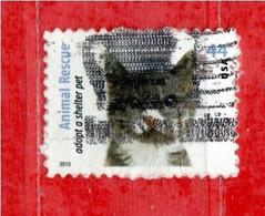 (Us.2) Stati Uniti ° - 2010 - Animaux Chats.  Yv. 4277.   Used. - Gebraucht