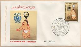 MAROC 1985 FDC Enveloppe 1er JOUR Y&T N° 982 - Marokko (1956-...)