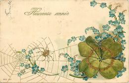 Themes Div Ref GG730- Insectes - Insecte -araignées - La Toile D Araignée - Carte Gaufrée - Fleurs Myosotis - - Insects