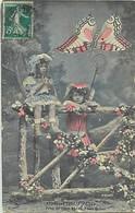 Themes Div Ref GG729- Insectes - Papillons- Insecte Papillon - Carte Fantaisie Enfants - La Chasse Au Papillon  - - Insects