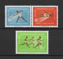 PAPUA NEW GUINEA * 1962 * Complete Set 3 Stamps * MNH** Commonwealth Games - Mi.No 46-48 - Papua New Guinea