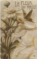 Themes Div Ref GG725- Insectes -papillons- Insecte Papillon -la Fleur Qui Parle !! Langage Fleurs -marguerites  - - Insects