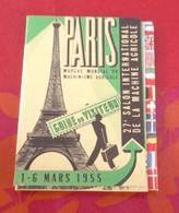Guide Du Visiteur Salon Machine Agricole Paris 1955 Parc Des Expositions Versailles Plan Du Salon Nouveautés Services - Tourism Brochures