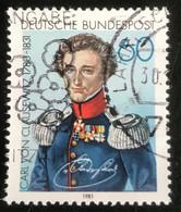 Deutsche Bundespost - C2/41 - (°)used - 1981 - Michel 1115 - Carl Von Clauswitz - Gebraucht