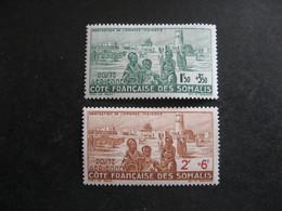 A). Cote Des Somalis: TB Paire PA N° 8 Et  PA N° 9, Neufs XX. - Unused Stamps