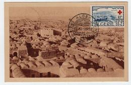 Algérie ALGER 15 Décembre 1952 Croix Rouge El Oued N° Yv 300, CM Carte Maximum - Maximum Cards