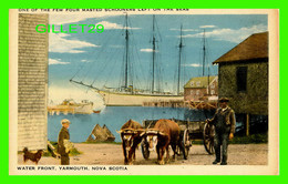 YARMOUTH, NOVA SCOTIA - WATER FRONT - ANIMATED -C.L.C. - PUB. BY HARRY McKINLAY - - Yarmouth