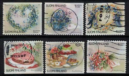 2001 Finland Friendship Flowers Complete Used Set. - Gebraucht