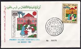 MAROC 1985 FDC Enveloppe 1er JOUR Y&T N° 983 - Marokko (1956-...)