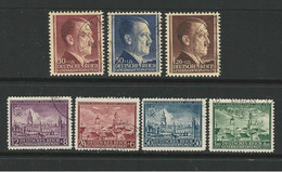 D - Occ. Tedesca POLONIA 1942 ⌛ Effigie Di A. Hitler E Vedute N. 100 /06 Usati ⏳ 2 Serie - Cat. 11 € - Lotto N. 2914 - Besetzungen 1938-45