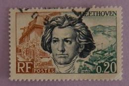 """FRANCE YT 1382 OBLITERE """"BEETHOVEN"""" ANNÉE 1963 - Gebraucht"""