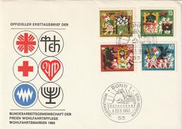Mi. 408/411 FDC - FDC: Briefe