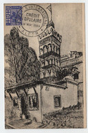 Algérie ALGER  19 Mai 1954 Crédit Populaire Sur Mosquée Sidi Abderrahman N° Yv 136, CM - Maximum Cards