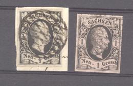 Allemagne  -  Saxe  :  Mi  3-4 (o) - Sachsen