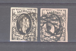 Allemagne  -  Saxe  :  Mi  4 II A+b  (o)     Type II, - Sachsen