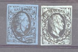 Allemagne  -  Saxe  :  Mi  5 + 7  (o) - Sachsen