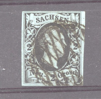 Allemagne  -  Saxe  :  Mi  7  (o)  Signé Pfenninger,  Cachet Rare De Chemnitz - Sachsen