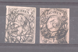 Allemagne  -  Saxe  :  Mi  9 A+b  (o) - Sachsen