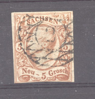 Allemagne  -  Saxe  :  Mi  12a  (o)  Signé Pfenninger - Sachsen