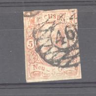 Allemagne  -  Saxe  :  Mi  12  (o)  Obl Nr 46 Plauen - Sachsen