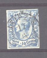 Allemagne  -  Saxe  :  Mi  13  (o)    Signé Pfenninger  , Nr 17 Glauchau - Sachsen