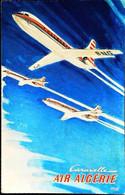 ►  AIR ALGERIE  -  CARAVELLE  - Bon Etat Général Non Voyagé - 1946-....: Modern Era