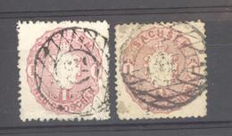 Allemagne  -  Saxe  :  Mi  16 A-b  (o)  Rose + Magenta - Sachsen