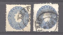 Allemagne  -  Saxe  :  Mi  17a-b  (o) - Sachsen