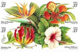 USA 1999, Tropical Flowers, MNH Stamps Set - Ungebraucht