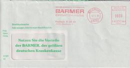 Absenderfreistempel - Bochum, Barmer Ersatzkasse, 1991 - Briefe U. Dokumente