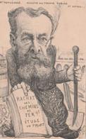 CPA Caricature Satirique M. MARUEJOULS Ministre Travaux Publics Chemin De Fer Illustrateur ORENS  2 Scans - People