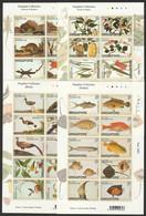 SINGAPORE 2002 FARQUHAR COLLECTION FRUIT FLOWER FISH BIRD ANIMAL MAMMAL SELF ADHESIVE 4 X SHEETS MNH(**) - Unused Stamps