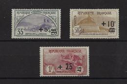 FRANCE. YT   N° 166-167-168  Neuf **/*   1922 - Ungebraucht