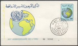 MAROC 1985 FDC ENVELOPPE 1er JOUR Y&T N° 992 - Marokko (1956-...)