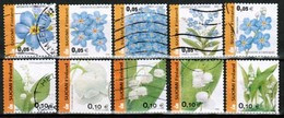 2002 Finland, Flowers Complete Sets Used. - Gebraucht