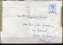 N° 332  Sur Lettre - Grande Bretagne  - Elizabeth - Covers & Documents