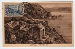 Algérie PHILIPPEVILLE  26 Juin 1954 Villa Romaine N° Yv 143, CM Carte Maximum - Maximum Cards