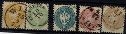 AUSTRIA  1863 DOUBLE EAGLE MI No 30-4 USED VF!! - Used Stamps