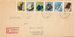 Germany DDR Registered Cover Sent To Hamburg Bergen 21-5-1969 With Complete Set MINERALS - Briefe U. Dokumente