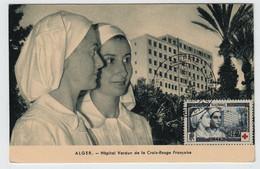Algérie ALGER  10 Octobre 1954 Hôpital Verdun N° Yv 316, FDC, CM Carte Maximum - Maximum Cards