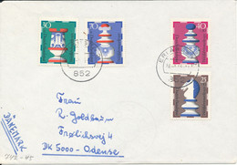 Germany Cover Sent To Denmark 24-1-1973 With Complete Set Of 4 CHESS Stamps - Briefe U. Dokumente