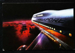 ► SINGAPORE AIRLINES Invitation Test à Bord - New BOEING 747 Big Top 1985 - Cachet Airmail Par Avion POstcard - 1946-....: Modern Era