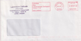 Absenderfreistempel - Delitzsch, Landrat Des Landkreises, 2001 - Briefe U. Dokumente