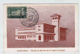 Algérie SIDI BEL ABBES  Camerone  30 Avril 1956 Hôpital Verdun N° Yv 334, FDC, CM Carte Maximum - Maximum Cards