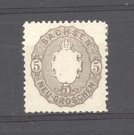 Allemagne  -  Saxe  :  Mi  18  * - Sachsen