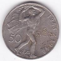 Tchécoslovaquie 50 Korun 1948, En Argent .KM# 25 - Czechoslovakia