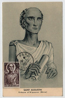 Algérie BONE   16 Mars 1955 Saint Augustin N° Yv 318, CM Carte Maximum - Maximum Cards