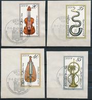 RDA- Instruments De Musique YT 2109-2112 Obl./ DDR-Musikinstrumenten Mi.Nr. 2445-2448 Gest. - Gebraucht