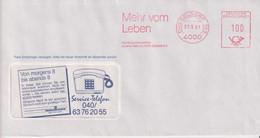 Absenderfreistempel - Düsseldorf, Hamburg Mannheimer, 1991 - Briefe U. Dokumente