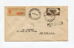 !!! MARTINIQUE, LETTRE RECOMMANDEE PAR AVION DE FORT DE FRANCE POUR NEW YORK DU 8/10/1945 - Briefe U. Dokumente